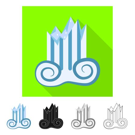 Vector illustration of architecture and old logo. Set of architecture and antique vector icon for stock.