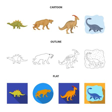 Vector design of animal and character icon. Collection of animal and ancient vector icon for stock. Иллюстрация