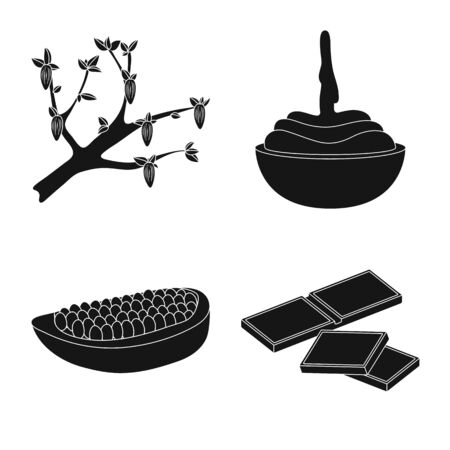 Isolated object of cooking and brown icon. Collection of cooking and beans vector icon for stock. Foto de archivo - 126467580