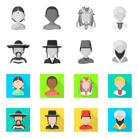 Isolated object of imitator and resident symbol. Collection of imitator and culture vector icon for stock. Иллюстрация