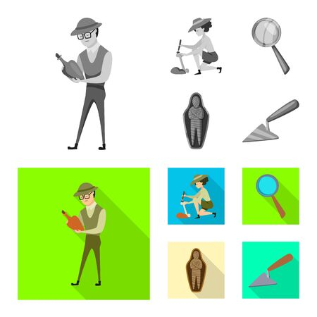 Vector illustration of story and items sign. Set of story and attributes stock symbol for web.