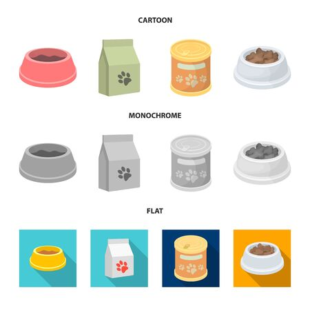 Vector illustration of food and tin icon. Collection of food and bottle stock vector illustration. Stock Illustratie