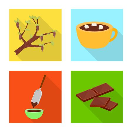 Vector design of treat and product logo. Collection of treat and yummy stock vector illustration. Foto de archivo - 126564933