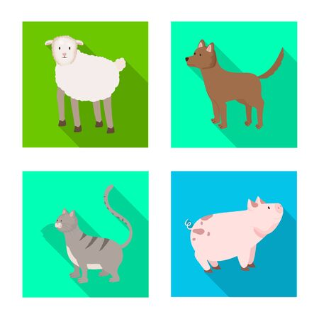 Isolated object of breeding and kitchen . Collection of breeding and organic vector icon for stock. Ilustração