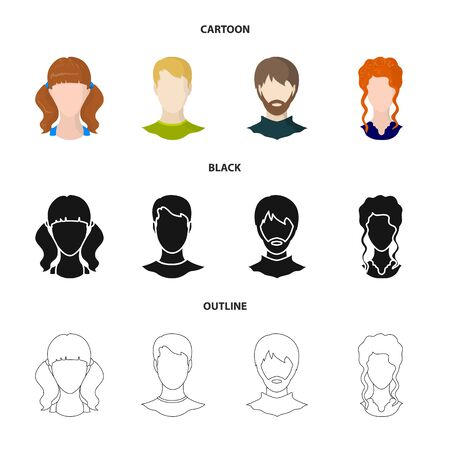 Vector illustration of professional and photo icon. Set of professional and profile stock symbol for web.