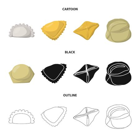 Isolated object of products and cooking . Set of products and appetizer vector icon for stock.