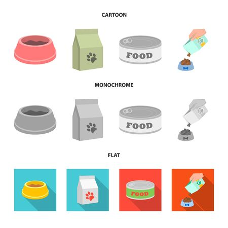 Vector illustration of food and tin symbol. Collection of food and bottle stock vector illustration. Stock Illustratie