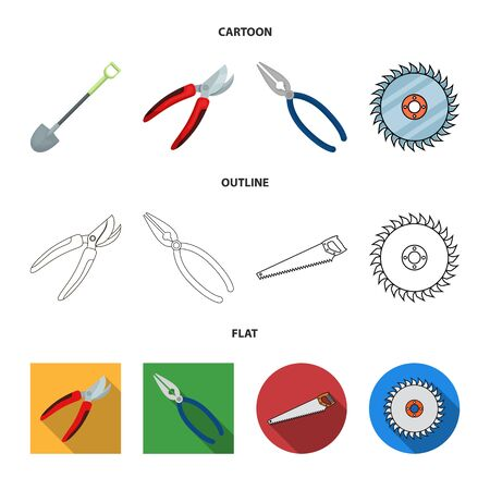 Vector design of tool and construction symbol. Set of tool and carpentry stock vector illustration.