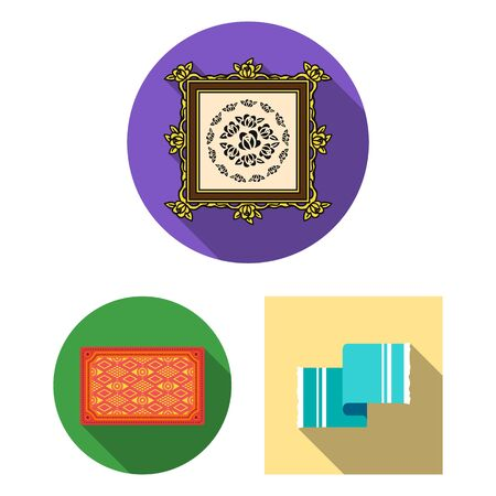 bitmap illustration of carpet and persian icon. Set of carpet and border bitmap icon for stock.