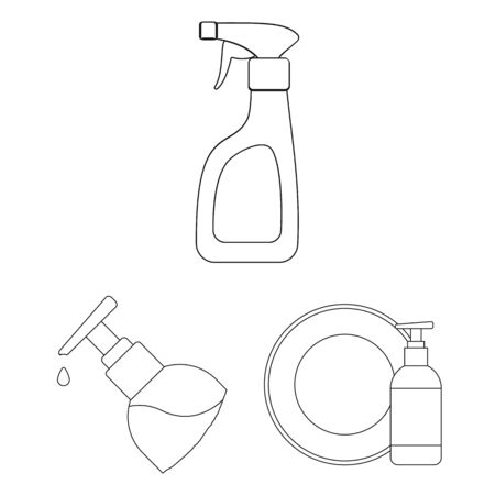 bitmap illustration of sprayer and liquid icon. Collection of sprayer and pesticide stock symbol for web. Stock Photo
