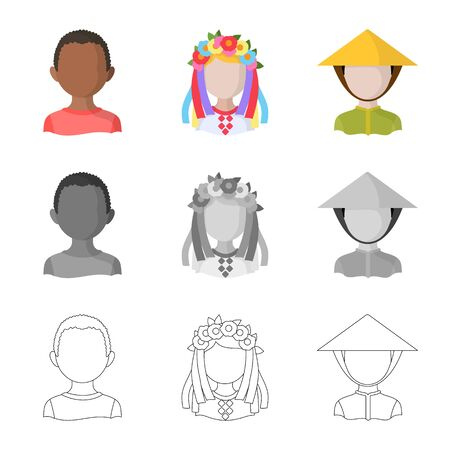 Vector illustration of imitator and resident symbol. Collection of imitator and culture vector icon for stock.