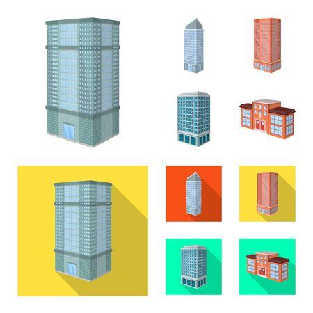 Vector design of construction and building sign. Collection of construction and estate stock vector illustration. Illustration
