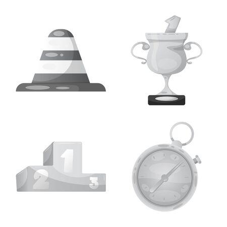 Bitmap-Design von Auto- und Rallye-Symbol. Sammlung von Auto- und Rennbitmap-Symbolen für Aktien.