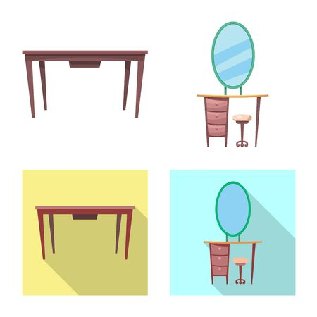 bitmap illustration of furniture and apartment. Collection of furniture and home bitmap icon for stock.