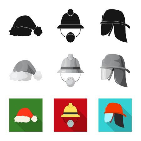 bitmap design of headgear and cap icon. Collection of headgear and accessory bitmap icon for stock.