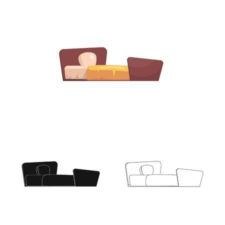 bitmap design of furniture and apartment symbol. Set of furniture and home stock bitmap illustration.