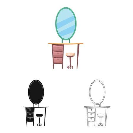 bitmap design of furniture and apartment symbol. Set of furniture and home stock symbol for web. Stockfoto