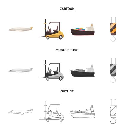 bitmap design of goods and cargo. Collection of goods and warehouse stock symbol for web.