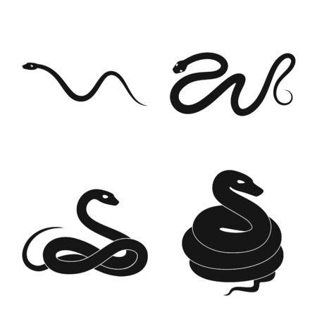Vector design of nature and medicine icon. Set of nature and evil vector icon for stock.