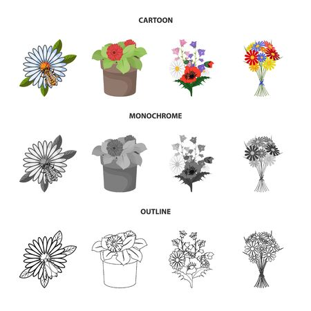 Vector design of spring and wreath. Set of spring and blossom stock symbol for web.