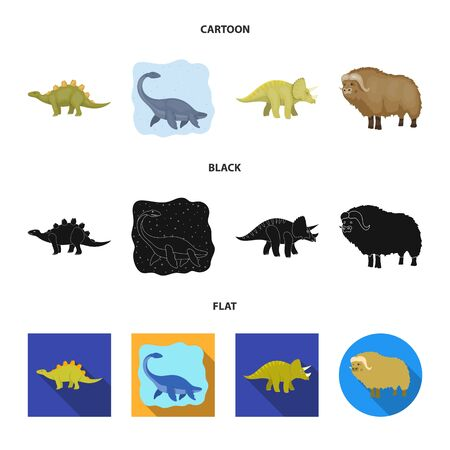 Vector design of animal and character symbol. Collection of animal and ancient stock symbol for web.