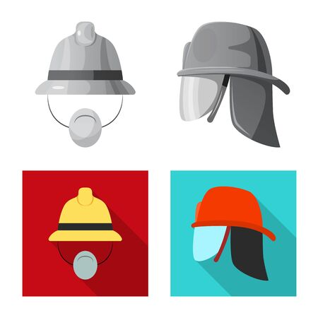 Isolated object of headgear and cap. Collection of headgear and accessory bitmap icon for stock. Reklamní fotografie