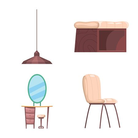 bitmap design of furniture and apartment icon. Collection of furniture and home bitmap icon for stock.