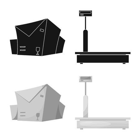 bitmap design of goods and cargo sign. Set of goods and warehouse stock bitmap illustration.