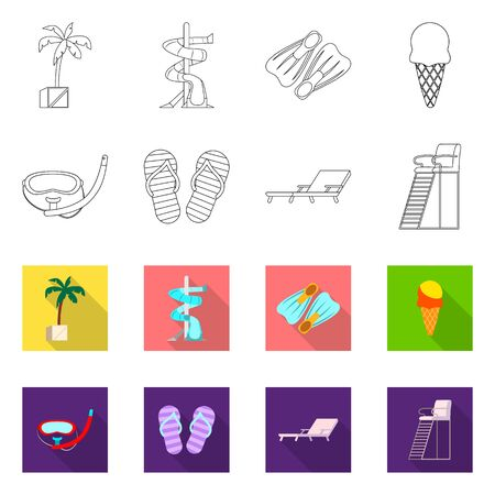 bitmap design of pool and swimming. Set of pool and activity bitmap icon for stock.