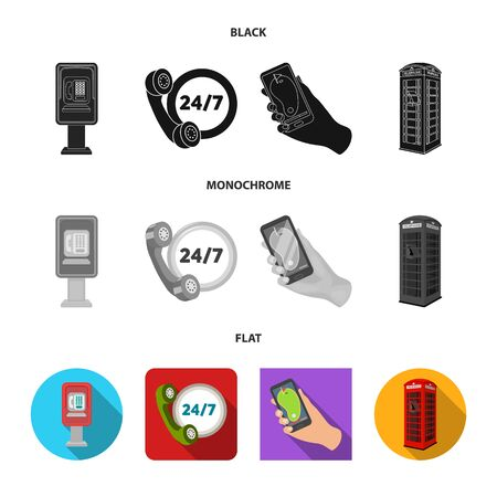 Vector illustration of phone and screen sign. Set of phone and cellphone vector icon for stock. Stock Illustratie