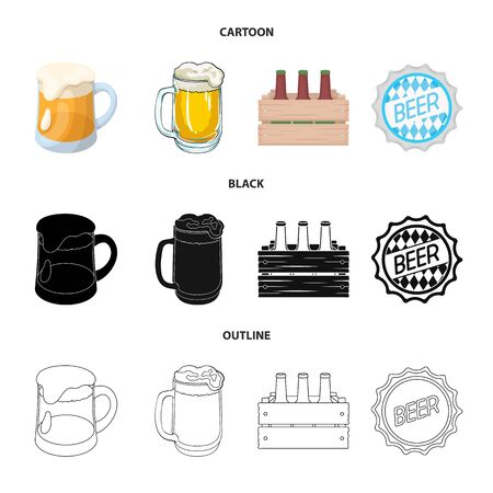 Isolated object of minimal and pint icon. Collection of minimal and craft stock symbol for web.
