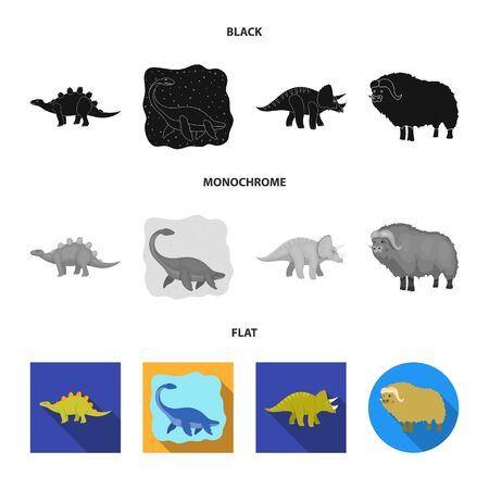 Vector illustration of animal and character symbol. Collection of animal and ancient stock symbol for web.