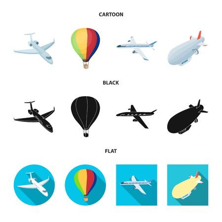Isolated object of transport and object symbol. Collection of transport and gliding vector icon for stock.