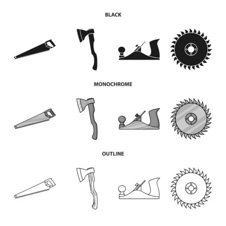 Vector design of tool and construction. Collection of tool and carpentry vector icon for stock.