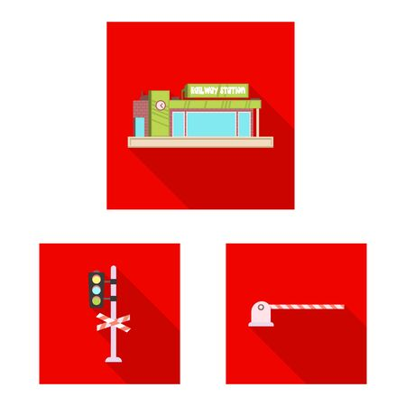 bitmap design of train and station . Set of train and ticket bitmap icon for stock.
