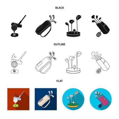 Isolated object of and stick icon. Collection of and golf vector icon for stock. Illustration