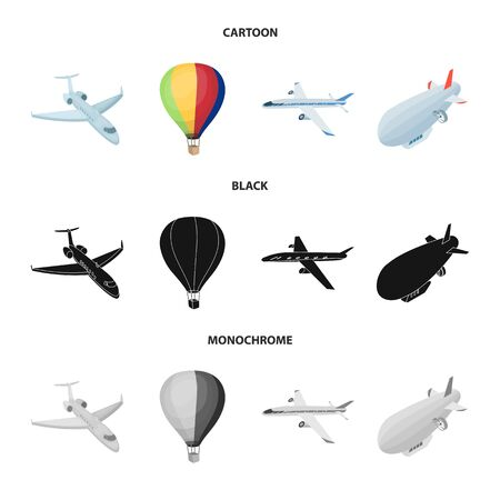 Isolated object of transport and object  . Collection of transport and gliding stock symbol for web.