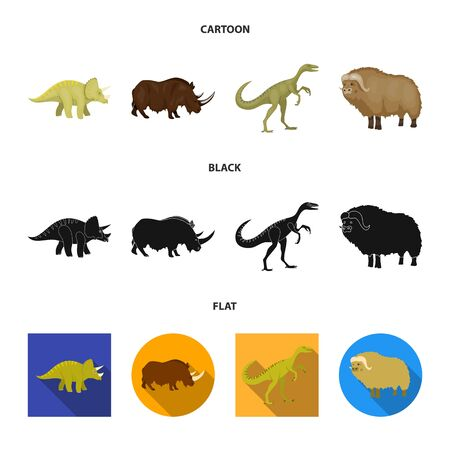 Isolated object of animal and character symbol. Collection of animal and ancient vector icon for stock.