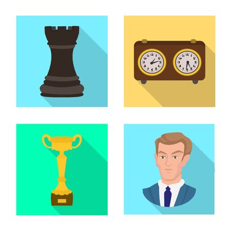Vector design of checkmate and thin sign. Collection of checkmate and target vector icon for stock. Illustration