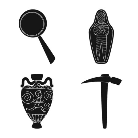 Isolated object of museum and attributes icon. Collection of museum and historical vector icon for stock. Векторная Иллюстрация