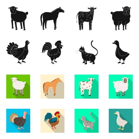 Isolated object of breeding and kitchen symbol. Set of breeding and organic stock symbol for web.