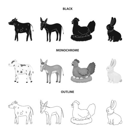 Vector illustration of breeding and kitchen symbol. Collection of breeding and organic vector icon for stock.