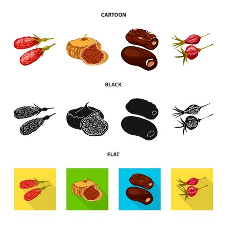 Isolated object of food and raw  . Collection of food and nature vector icon for stock.