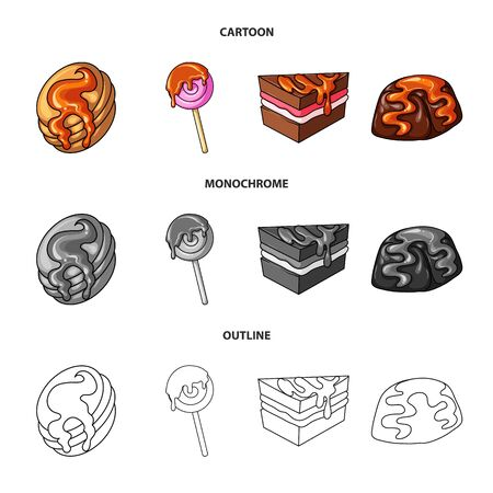 Vector illustration of confectionery and culinary sign. Set of confectionery and product stock symbol for web.