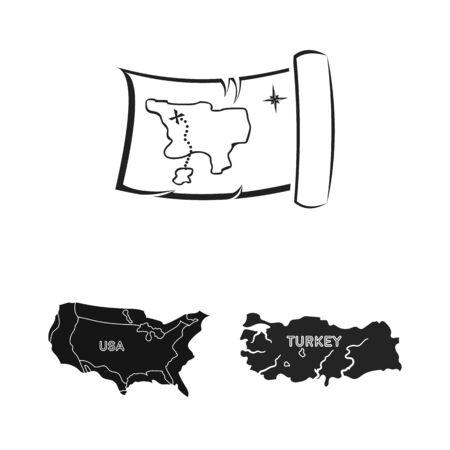 bitmap illustration of middle and east symbol. Collection of middle and country stock bitmap illustration. Standard-Bild
