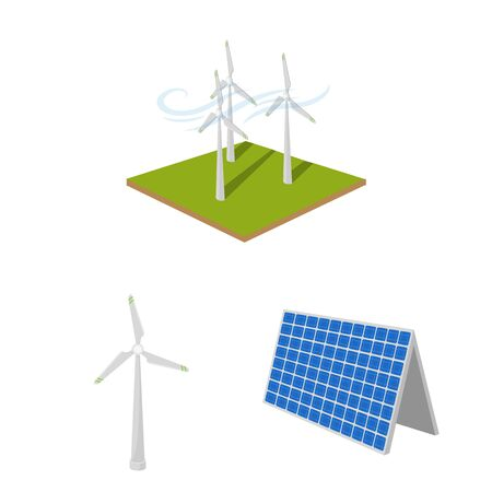 bitmap design of energy and solar icon. Set of energy and green stock symbol for web. Archivio Fotografico - 127228157