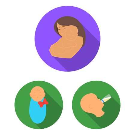 bitmap design of infant and character icon. Collection of infant and happy stock bitmap illustration. Reklamní fotografie - 127228209