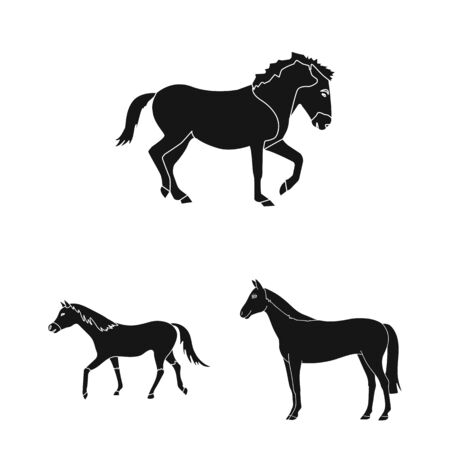 Isolated object of trot and running symbol. Set of trot and clipart stock bitmap illustration. 版權商用圖片