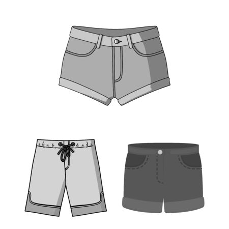 bitmap illustration of short and summer icon. Collection of short and apparel stock symbol for web.
