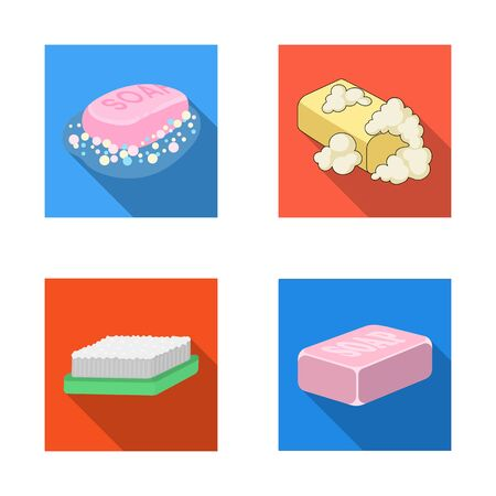 bitmap illustration of soap and bathroom sign. Set of soap and packaging bitmap icon for stock. Foto de archivo - 127228455